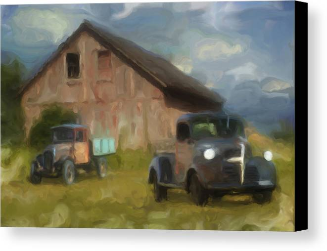 Barn Canvas Print featuring the photograph Farm Scene by Jack Zulli
