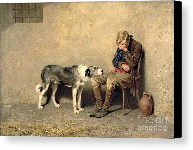 Fidelity Canvas Print featuring the painting Fidelity by Briton Riviere