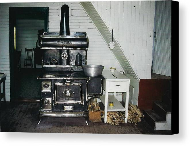 Oldtimers Canvas Print featuring the photograph Grandma's Kitchen by Shirley Sirois