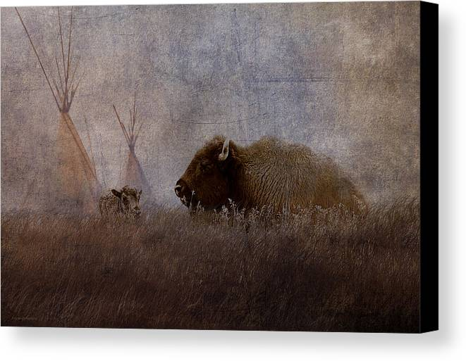 Ron Jones Canvas Print featuring the photograph Home On The Range by Ron Jones