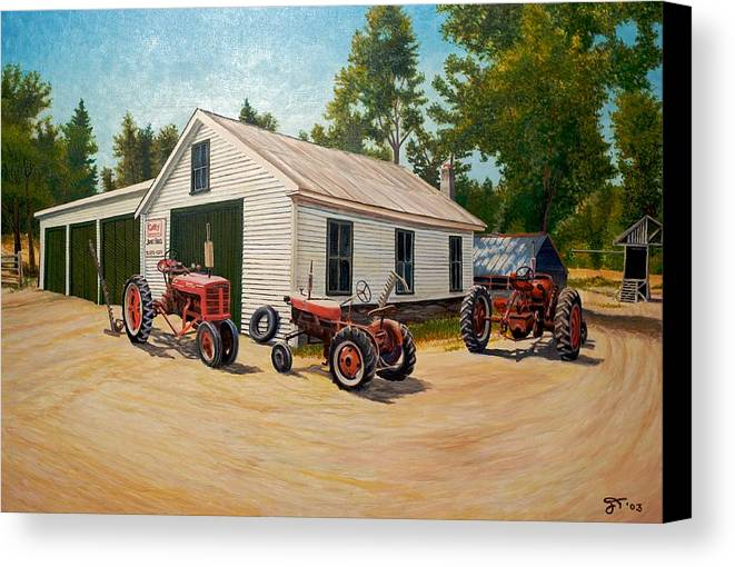 Barns Canvas Print featuring the painting Jim Build by Jeff Toole