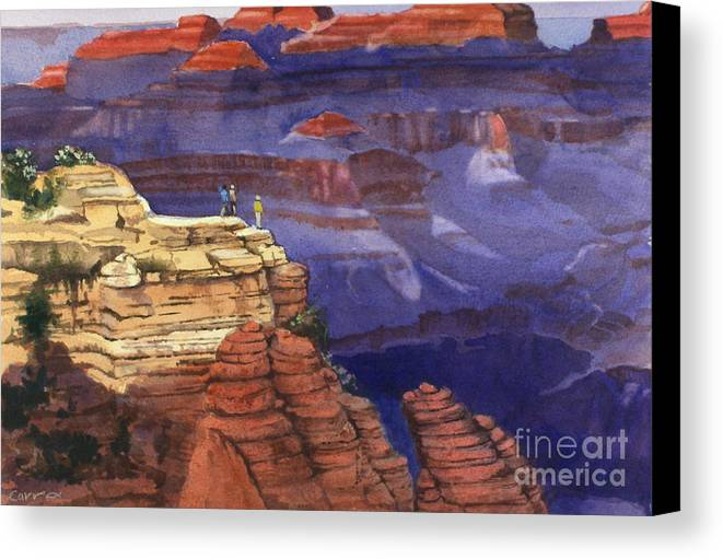 Grand Canyon Canvas Print featuring the painting Majesty by Elizabeth Carr