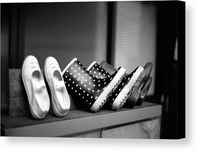 Horizontal Canvas Print featuring the photograph Rain Shoes by Snap Shooter jp