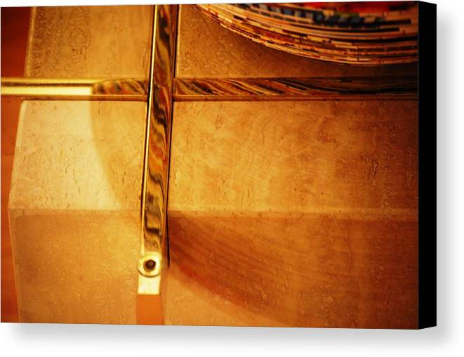 Table Canvas Print featuring the photograph Recessed And Reflected by Peter McIntosh