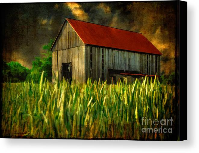 Architecture Canvas Print featuring the photograph Summer Storm by Lois Bryan