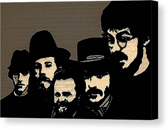 Musicians Canvas Print featuring the painting The Band by Jeff DOttavio