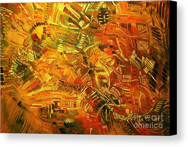 Michael Kulick Canvas Print featuring the painting Adaptation by Michael Kulick