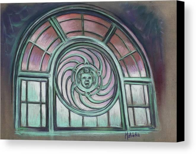 Asbury Park Canvas Print featuring the painting Asbury Park Carousel Window by Melinda Saminski