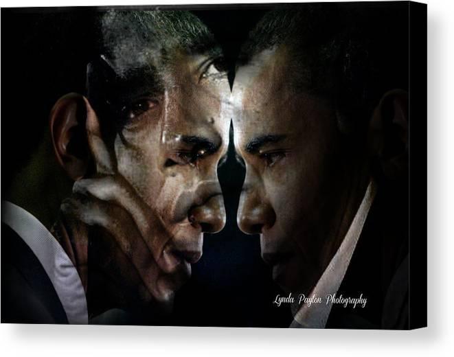 Barack Obama Canvas Print featuring the digital art Barack Obama - by Lynda Payton
