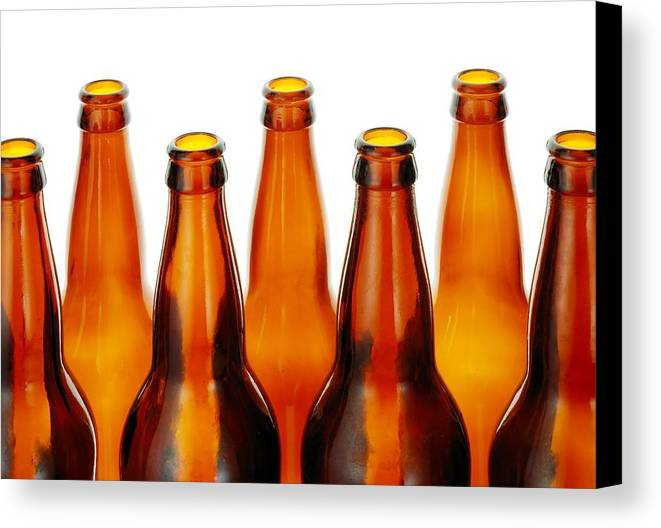 Beer Canvas Print featuring the photograph Beer Bottles by Jim Hughes