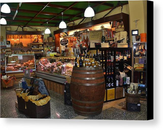 Grocery Canvas Print featuring the photograph Italian Grocery by Dany Lison