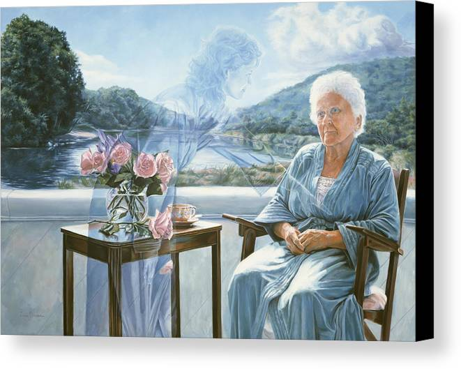 Spiritual Canvas Print featuring the painting Only The Body Withers by Lucie Bilodeau
