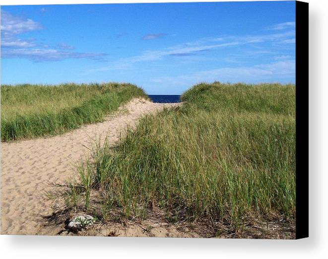 Old Orchard Beach Canvas Print featuring the ceramic art Path To Heaven by Brenda Burns