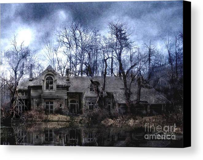 Deserted Canvas Print featuring the photograph Plunkett Mansion by Tom Straub