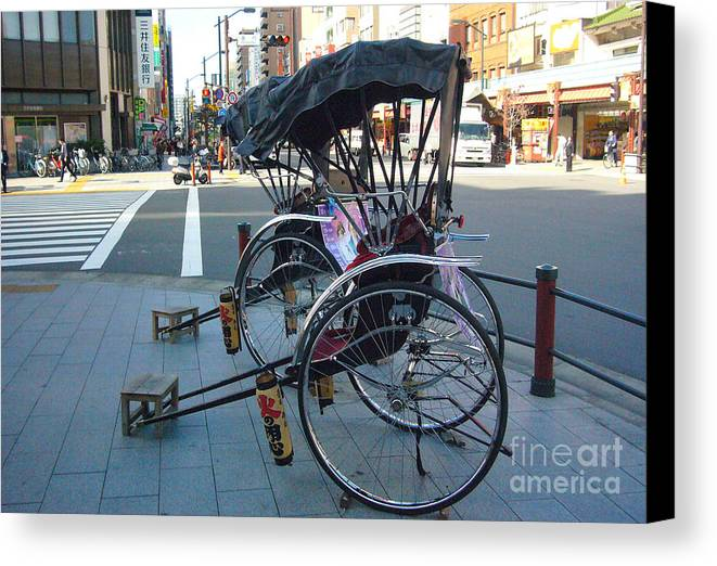 Tokyo Canvas Print featuring the photograph Rickshaw In Tokyo by To-Tam Gerwe