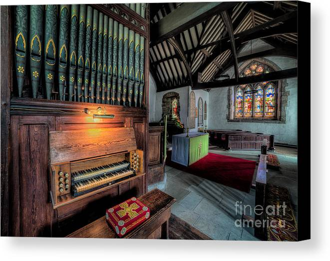 British Canvas Print featuring the photograph St Digains Church by Adrian Evans