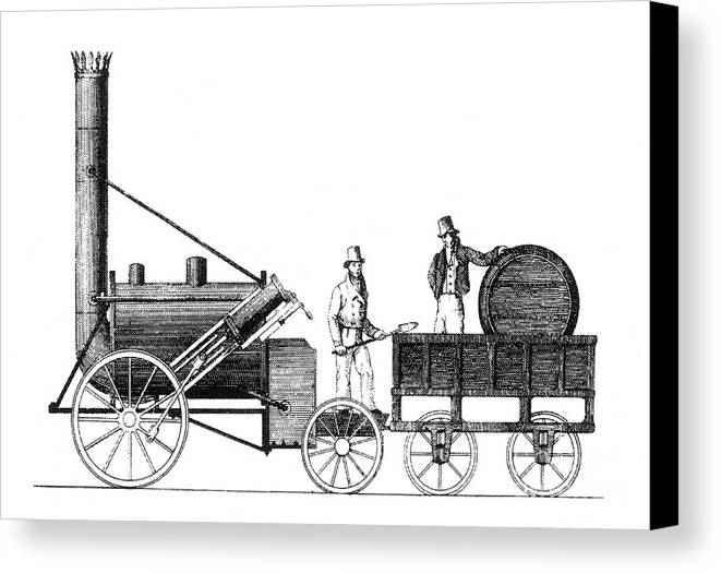 Science Canvas Print featuring the photograph Stephensons Rocket 1829 by Science Source