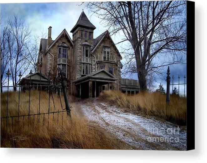 Haunted Mansion Canvas Print featuring the digital art Sydenham Manor by Tom Straub