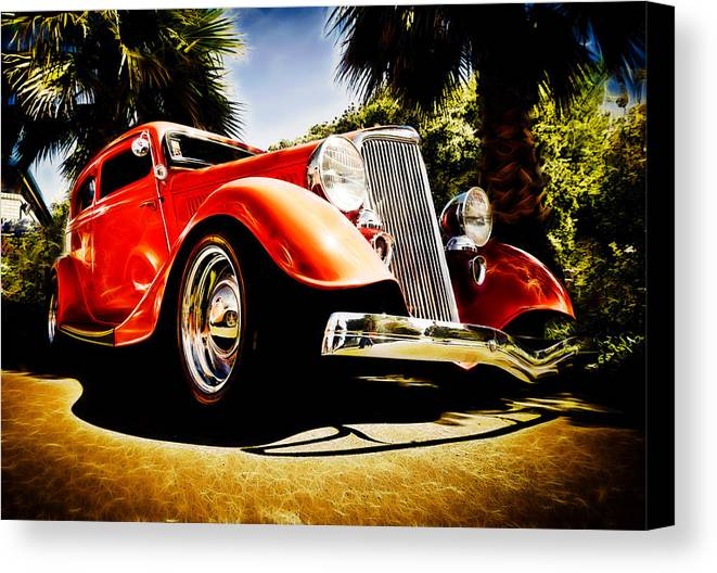 Ford Tudor Canvas Print featuring the photograph 1930s Ford Tudor by Phil 'motography' Clark