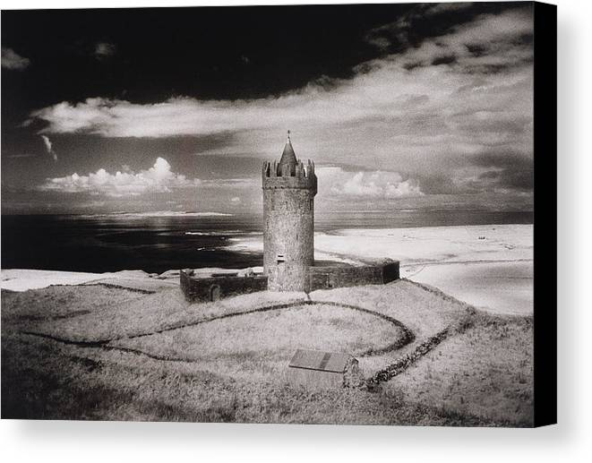 Doonagore Tower Canvas Print featuring the photograph Doonagore Tower by Simon Marsden