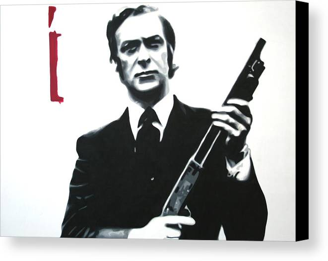 Michael Caine Canvas Print featuring the painting Get Carter 2013 by Luis Ludzska