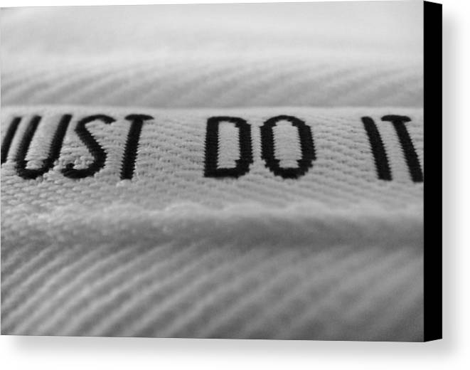 Nike Canvas Print featuring the photograph Just Do It by Hunter Huebsch
