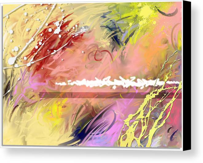 Abstract Canvas Print featuring the digital art Red Convertable by Snake Jagger