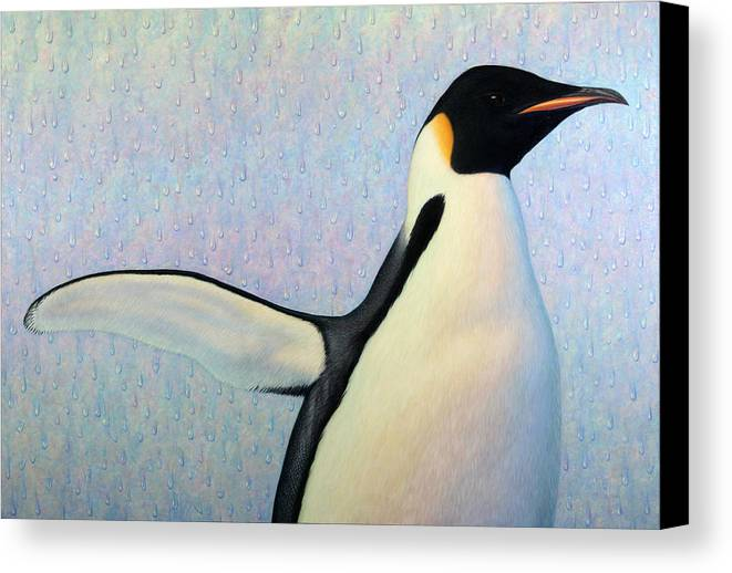 Penguin Canvas Print featuring the painting Summertime by James W Johnson