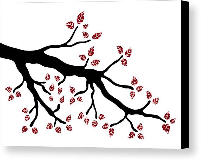 Frank Tschakert Canvas Print featuring the painting Tree Branch by Frank Tschakert
