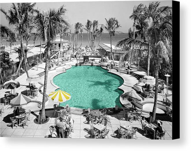 Miami Canvas Print featuring the photograph Vintage Miami by Andrew Fare