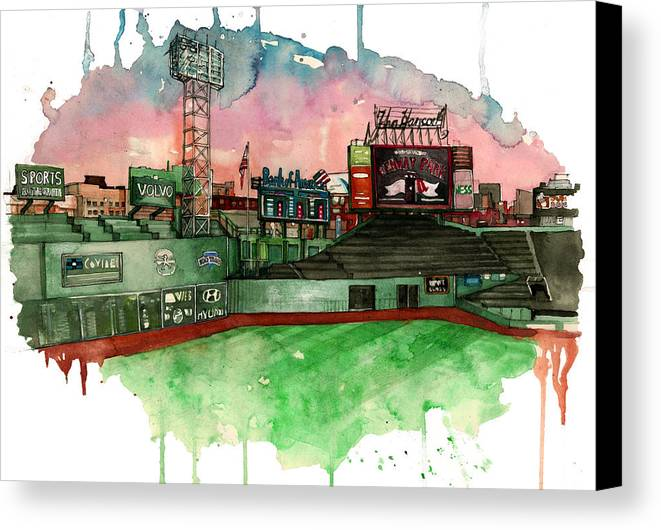 Fenway Park Canvas Print featuring the painting Fenway Park by Michael Pattison