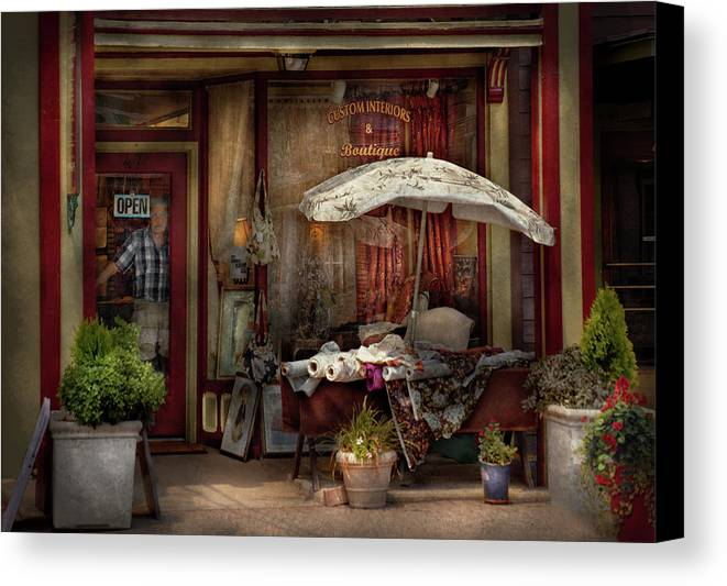 Hdr Canvas Print featuring the photograph Storefront - Frenchtown Nj - The Boutique by Mike Savad
