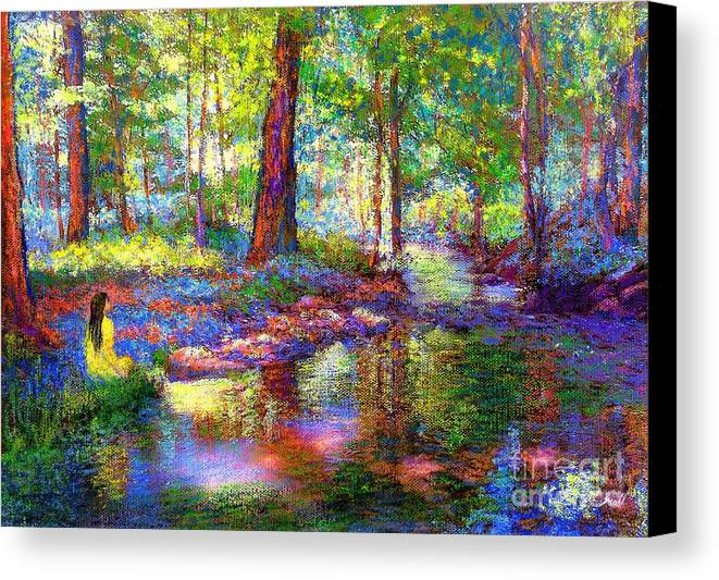 Woodland Canvas Print featuring the painting Woodland Rapture by Jane Small
