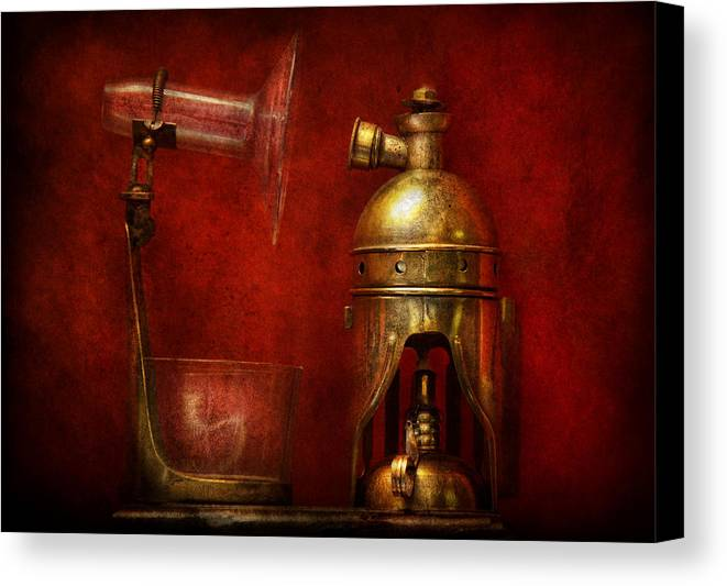Torch Canvas Print featuring the photograph Steampunk - The Torch by Mike Savad