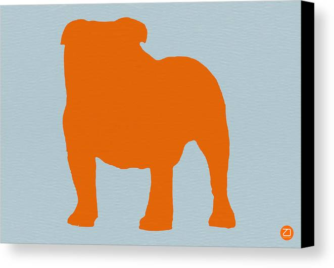 French Bulldog Canvas Print featuring the digital art French Bulldog Orange by Naxart Studio