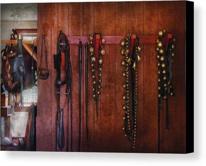 Savad Canvas Print featuring the photograph Horse Trainer - Jingle Bells by Mike Savad