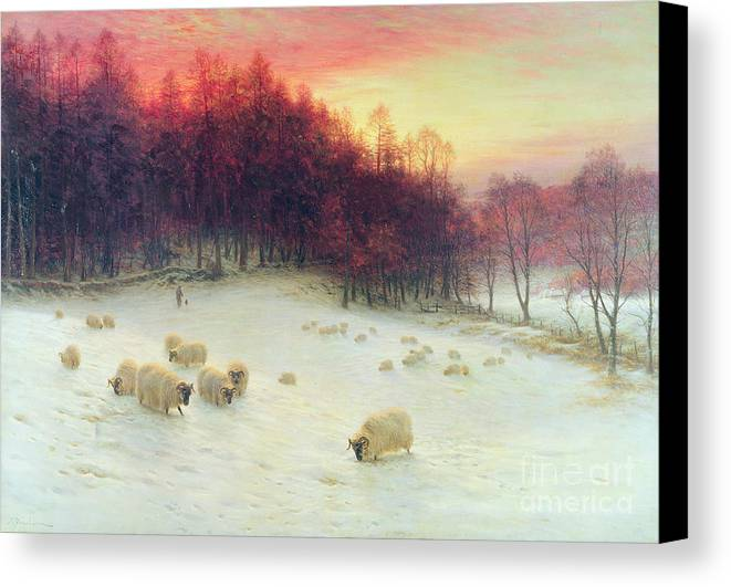 Forest Canvas Print featuring the painting When The West With Evening Glows by Joseph Farquharson