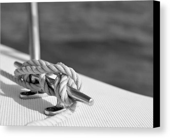 Laura Fasulo Canvas Print featuring the photograph At Sea by Laura Fasulo