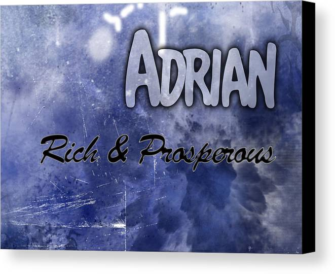 Pacific Canvas Print featuring the painting Adrian - Rich And Prosperous by Christopher Gaston