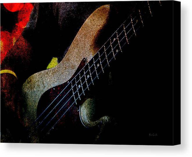 Bass Canvas Print featuring the photograph Bass Guitar by Bob Orsillo