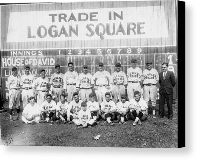 George Canvas Print featuring the photograph Logan Squares Semi-pro by Retro Images Archive