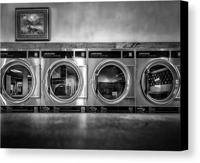 Abstract Canvas Print featuring the photograph Laundromat Art by Bob Orsillo