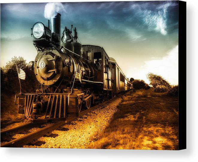 Train Canvas Print featuring the photograph Locomotive Number 4 by Bob Orsillo