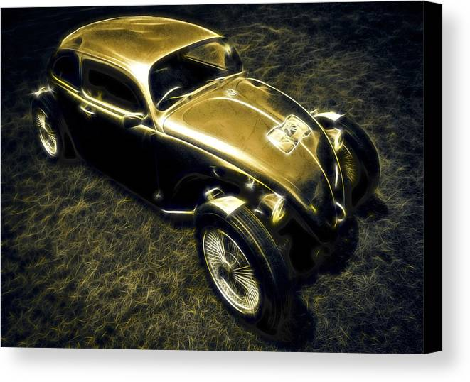 Vw Beetle Canvas Print featuring the photograph Rat Beetle by motography aka Phil Clark