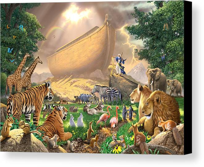 Animal Canvas Print featuring the photograph The Gathering by Chris Heitt