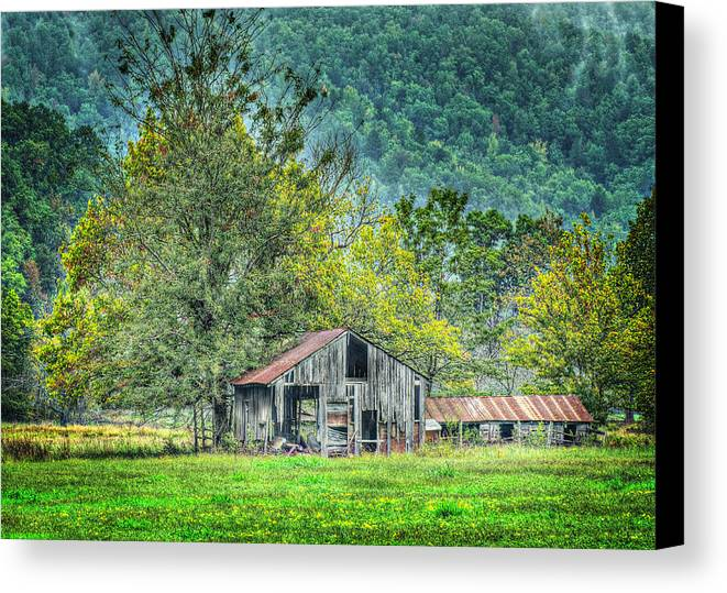 Barn Canvas Print featuring the photograph 1209-1298 - Boxley Valley Barn 2 by Randy Forrester