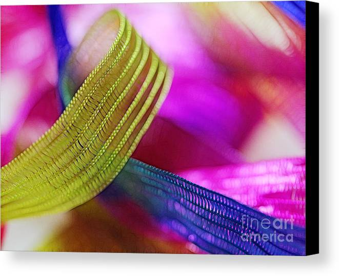 Green Canvas Print featuring the photograph Party Ribbons by Judi Bagwell