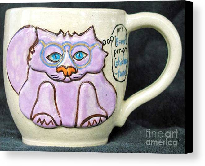 Kitty Canvas Print featuring the photograph Smart Kitty Mug by Joyce Jackson