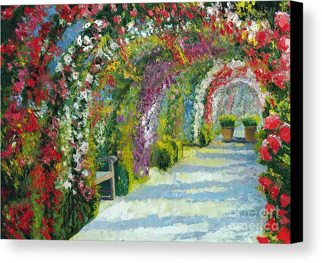 Oil Canvas Print featuring the painting Germany Baden-baden Rosengarten by Yuriy Shevchuk
