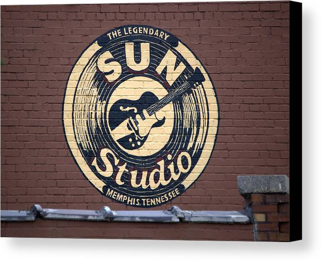 Sun Studio Canvas Print featuring the photograph Sun Studio Memphis Tennessee by Wayne Higgs